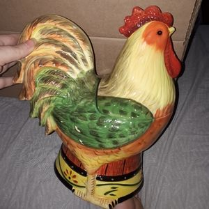 Pier 1  imports rooster cookie jar